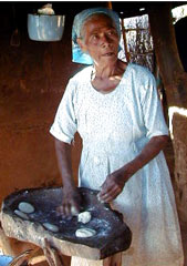 Mayo Indian Lady Making Tortillas in Mexico's Copper Canyon