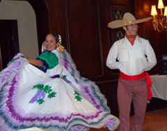 Folkloric Dancers entertain Travel Agent guests in Mexico's Copper Canyon