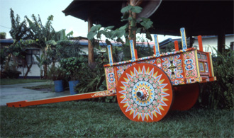 Decorated oxcart in Costa Rica