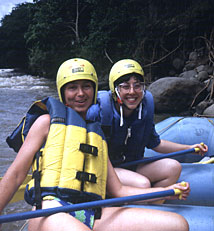 Whitewater rafting on Costa Rica tour