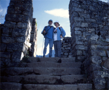 Ellen and Lee Klein at Machu Picchu's Gate of the Sun