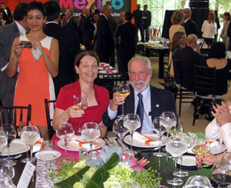 The California Native's Lee and Ellen Klein at luncheon in Mexico's Presidential Residence, Los Pinos.
