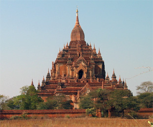 In Myanmar (Burma), the ancient city of Bagan has hundreds of temples