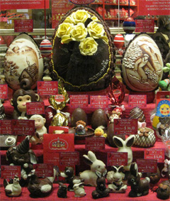 Easter Chocolates on display in Baraloche, Patagonia