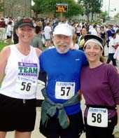 California Natives Lori Klein-DelRosario, Ellen Klein, and Lee Klein, at El Segundo CA 5k race.
