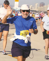 California Native founder, Lee Klein, at Long Beach CA Marathon.
