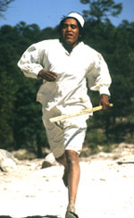 Tarahumara runner in Mexico's Copper Canyon