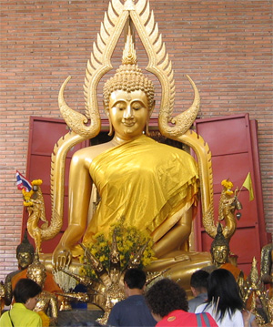 Yellow Buddha in Thailand