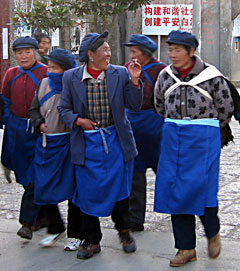 Naxi Ladies Stroll Home on The California Native Yunan China Tours