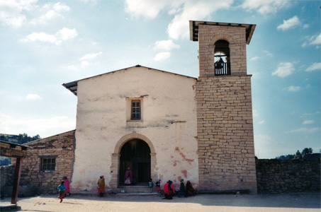 The Cusarare Mission in the Tarahumara village of Cusarare near Creel, Copper Canyon