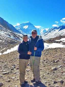 California Native's Lee and Ellen Klein visit the North Base Camp at Mount Everest.