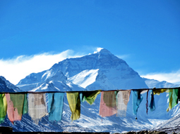Amazing view of Mt Everest from the North Base Camp
