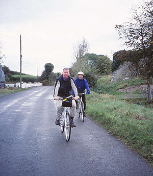 Bicycling through the beautiful Irish countryside.