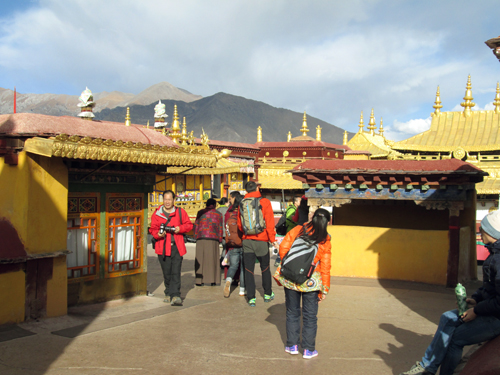 Upper section of Jokhang Temple