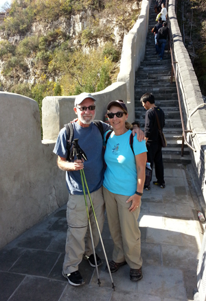 Lee & Ellen Klein at the Juyong Pass of the Great Wall