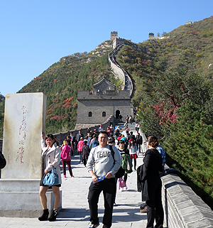 Visitors at the Juyong Pass of the Great Wall