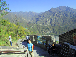 Ellen Klein at the Juyong Pass of the Great Wall