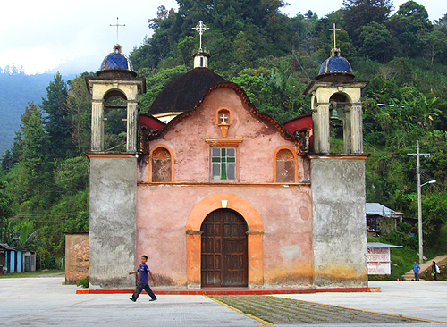 Church in the village of Santa Cruz Tepetotutla, Oaxaca