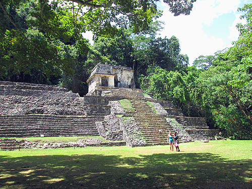 Pyramids in Palenque