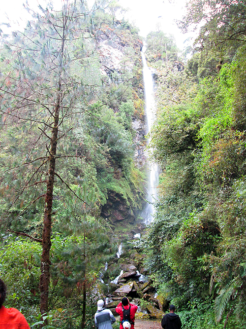 The waterfalls at Santiago Comaltepec