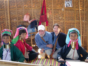 &quot;Long-necked&quot; women of the Padaung tribe at Inle Lake, Myanmar