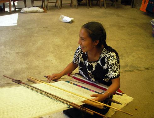 Weaver in Chiapas