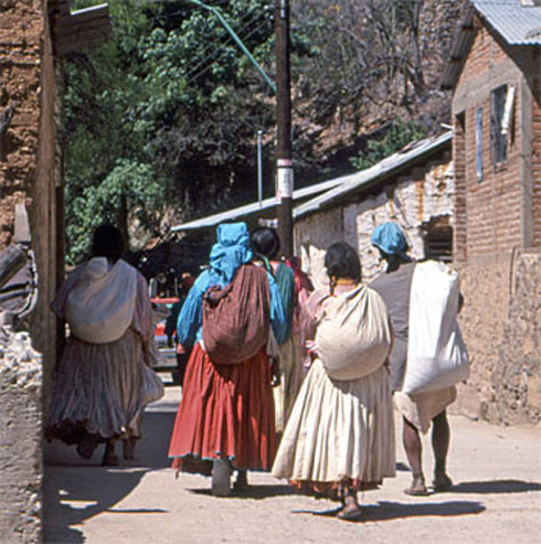 A group of Tarahumara Ladies in Batopilas
