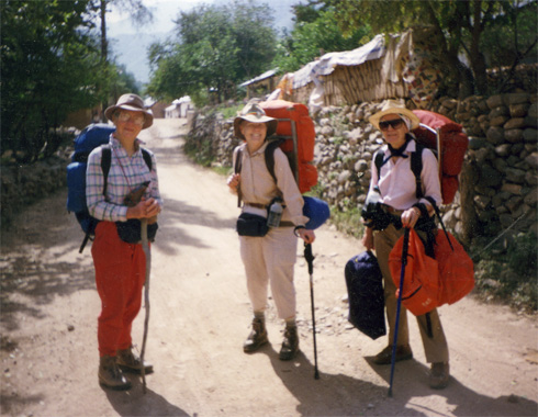 The &quot;three caballeras&quot; in the small town of Urique in the bottom of Copper Canyon.