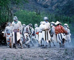 Tarahumara men celebrate Easter in Mexico's Copper Canyon