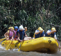 California Natives rafting in Costa Rica