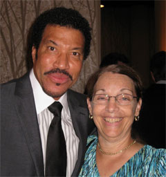 California Native's Ellen Klein and singer Lionel Richie