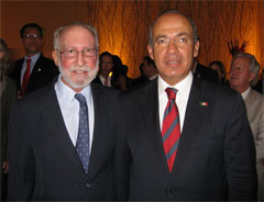 California Native President, Lee Klein, and Mexican President, Felipe Calderon