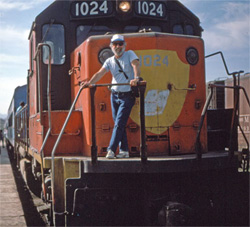 California Native founder, Lee Klein, aboard the Copper Canyon train.