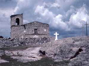 A Tarahumara church deep in Copper Canyon.