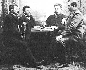 Albert Owen (far left) at Topolobampo.