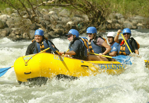 White water rafting on Mexico's Rio Antigua